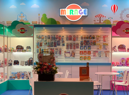 Mirage stationery booth in Hong Kong International Stationery Fair.